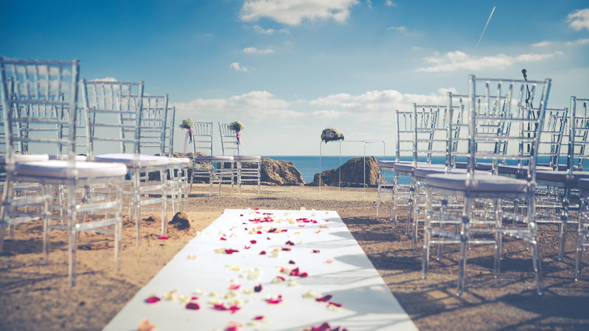 La boda en el cielo de Sara y Jaime